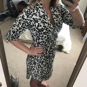 Merona Dresses - Snow leopard print dress
